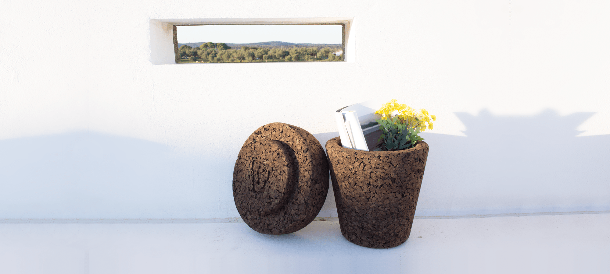 varas verdes pot cork stool