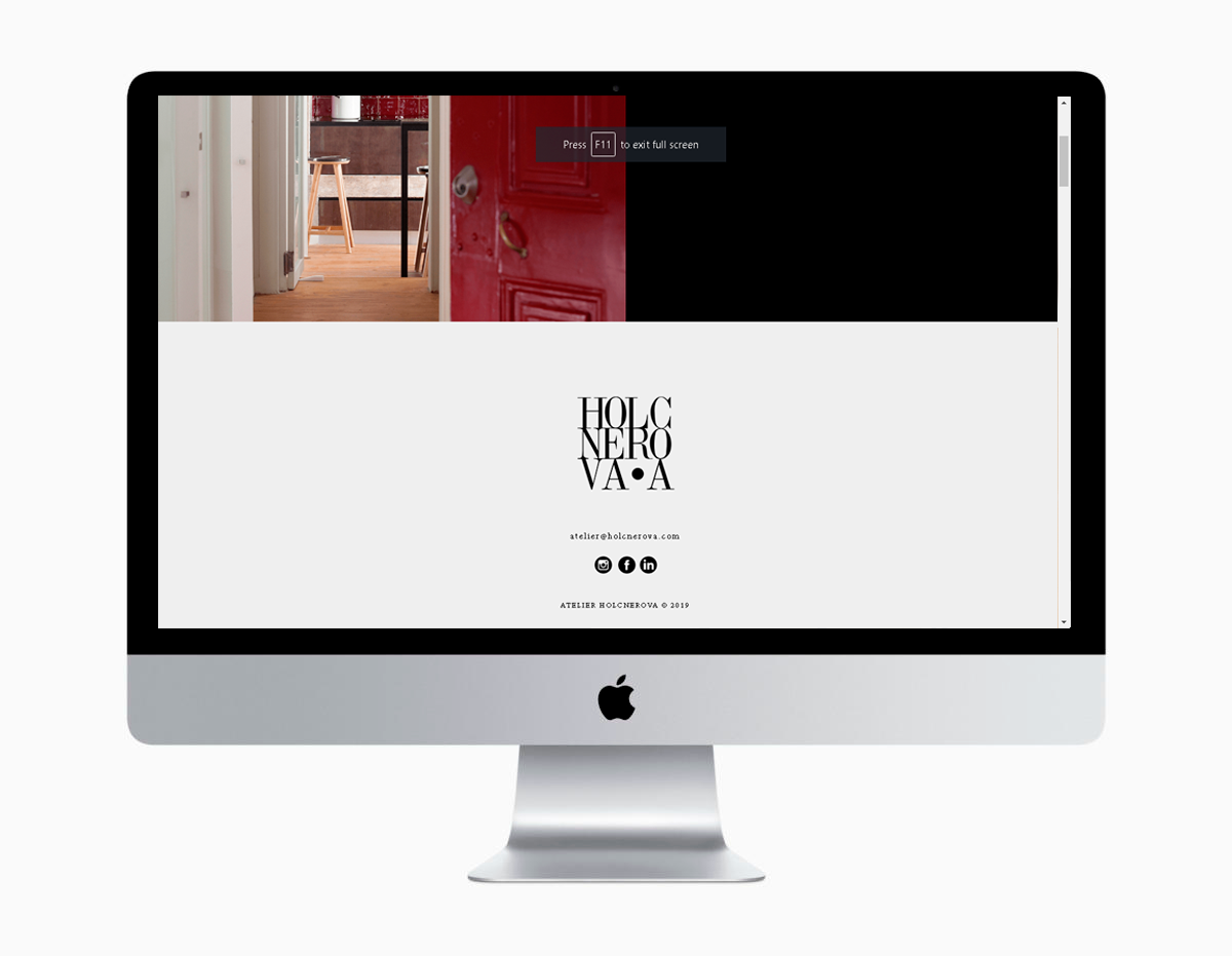 Atelier Holcnerova Website Development